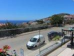 Balcony sea and island views
