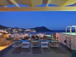 The sea view at dusk. Enjoy the stars from your pool jacuzzi!