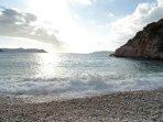Der Strand vom Bücük Cakil.