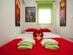 Quadruple bedroom: Double sofa bed + bunk beds