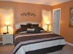 King Eurotop Master bedroom suite (different bedding)