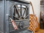 A woodburning stove that you can heat a casserole on too.