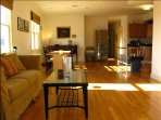 Open concept kitchen, living and dining area. Our guests are welcome to use this area.