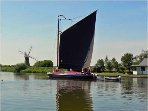 A Norfolk Wherry on the river