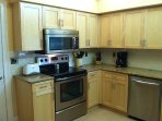 Range, Microwave, Granite Counters