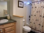 master bath closet has all beach equipment