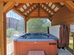 Soak in the hot tub!
