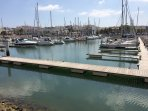 The marina in the beautiful town of Lagos which 8km away