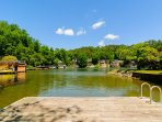 Fish or swim off the dock at Tryon Bay Lake House