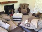 Living room with sleepy bear