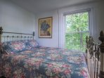 13. Beach Front Queen Bedroom with Ship's Wheel Antique Brass & Iron Bed