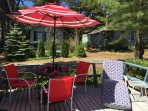 This deck is ready for fun, be it morning coffee or a lobster dinner!