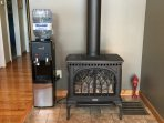 Cozy Fireplace/ Water Cooler