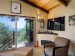 La Casita Living room with 60' TV if you can drag yourself away from the view