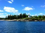 Maine has 4600 islands off the coast - this is just one near Boothbay