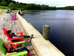 Scenic Kennebec Riverfront Hallowell, Maine...Shops, Bookstore, Liberal Cup cask beer, Slates Rest