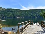 Large private dock with deep water moorage