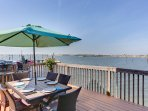 Your private waterfront deck, you can also crab from this deck or fish
