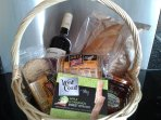 Sample welcome basket (contents vary)