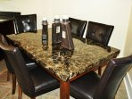 Dining room table for 6 guest. Plenty of room. :Located in the kitchen.