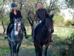 horseriding in the sierra