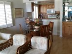 Dining area with wet bar and kitchen bar