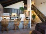 Kitchen, Dining and Loft Stairway