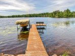 Dock access makes this property even more appealing.