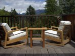 Comfy chairs on the deck