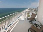 Long range views from lounge area on Gulf-front balcony