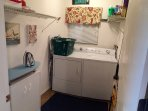 Large convenient laundry/ ironing room
