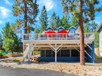 Our darling cottage is located directly across the street from Big Bear Lake.