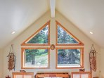 Natural light flows throughout the magnificent living space.