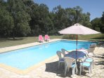 Swimming Pool (12m x 6m and alarmed) on separate sunny terrace.