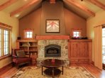 Clearwater Cottage 87 - Large stone fireplace