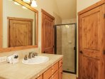 Clearwater Townhome 86 - Bathroom with standalone shower