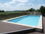 Swimming pool with far reaching views