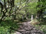 The start of the woodland walk, 5 minutes down the lane