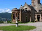 This is the view of the castle and Loch Long on arrival