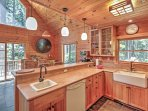 Prepare home-cooked meals in this fully equipped kitchen.