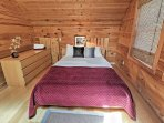 Cozy up in the loft's comfy queen bed for a good night's rest.