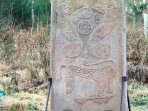 On the way into the Castle stands the Rodney Stone, a pictish carved stone with Ogham lettering