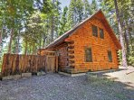 Spend plenty of time enjoying the outdoors at this cabin.
