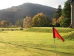 Practice your pitch and putt in the garden
