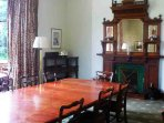 There is room for your party to party all together in the dining room