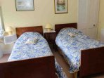 'Sid's' is a traditional twin bedroom on the second floor