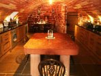 This kitchen is housed in the ground floor vaulted section