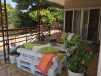 Nature around the large veranda
