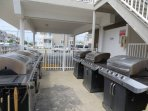 Grills on the property
