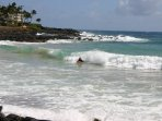 Brennecke's Beach is an easy walk, with great boogie-boarding and body-surfing.